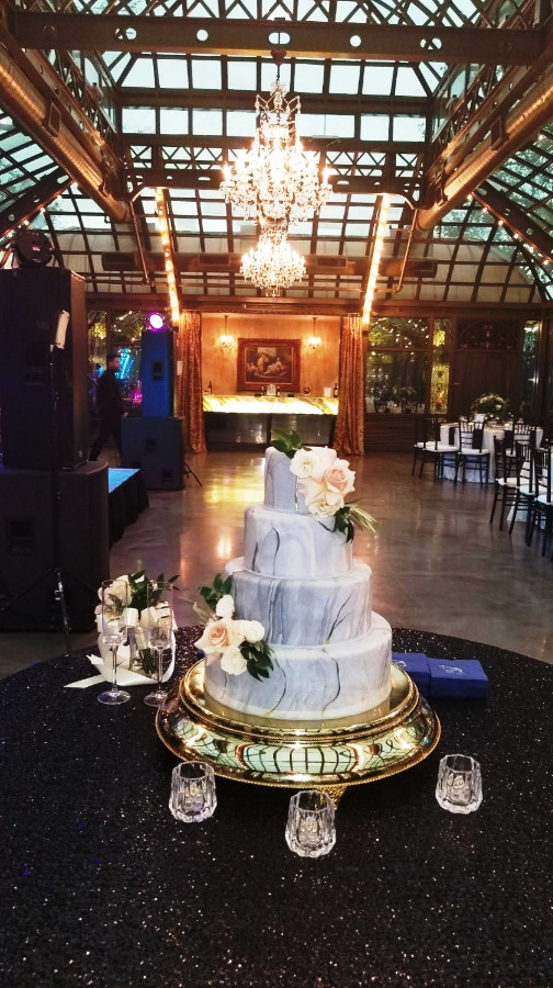 Wedding Bliss Events Bryan Museum  White Rose Wedding Cake